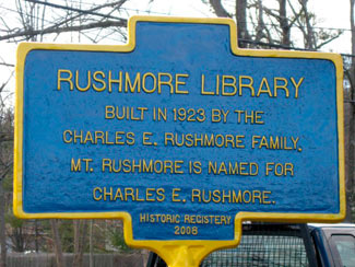 Rushmore Library Historic Registry Marker